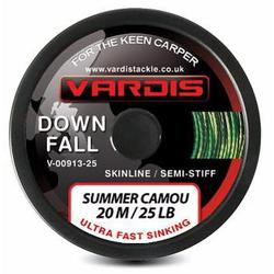 Поводковый материал Vardis Tackle DOWNFALL FS Semi-Stiff Skinline 20m 25lb Summer Camou