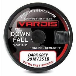 Поводковый материал Vardis Tackle DOWNFALL FS Semi-Stiff Skinline 20m 35lb Dark Grey
