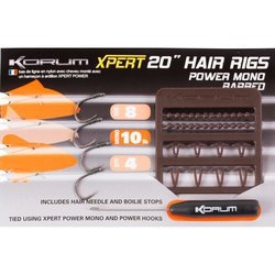 Поводок KORUM XPERT POWER MONO HAIR RIG BARBED 4 шт. №10