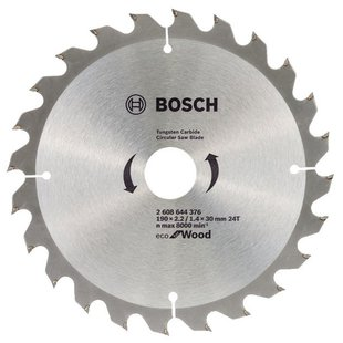 Пильный диск BOSCH Eco Wood 2608644376 190х30 мм