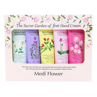 Набор Medi Flower The secret garden of five hand cream