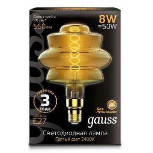 Лампа Gauss Led Vintage Filament Flexible BD180 (161802008)