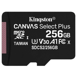 Карта памяти Kingston Canvas Select Plus microSDXC 256Gb UHS-I U3 A1 (SDCS2/256GBSP)